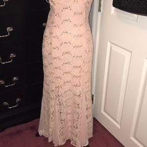Wendye Chaitin Dresses - STUNNING Light Peach/Dusty Rose Sequin Lace Dress